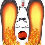 Hospaop Semelle Chauffante, Semelle Thermique, USB Semelles chauffantes, Chauffe Pied, pour d'hiver, de pêche, de randonnée, de Camping, Taille...