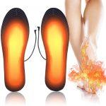 PINPOXE Semelles chauffantes, Semelle chauffante Electrique USB, Semelles Pieds Warmers, Semelles intérieures pour Chaussures Chauffe Pieds d'hiver,.